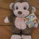 Garanimals Plush Brown Monkey Baby Toy Cream Face Tummy Hands 82497