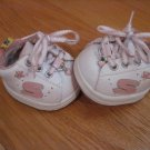 Build A Bear Brown Pink & White Skechers Tennis Shoes with Hearts Athletic Teddy Bear Clothes