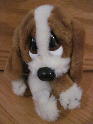 Vintage 6 Inch Sad Sam Babies Plush Puppy Dog #8472