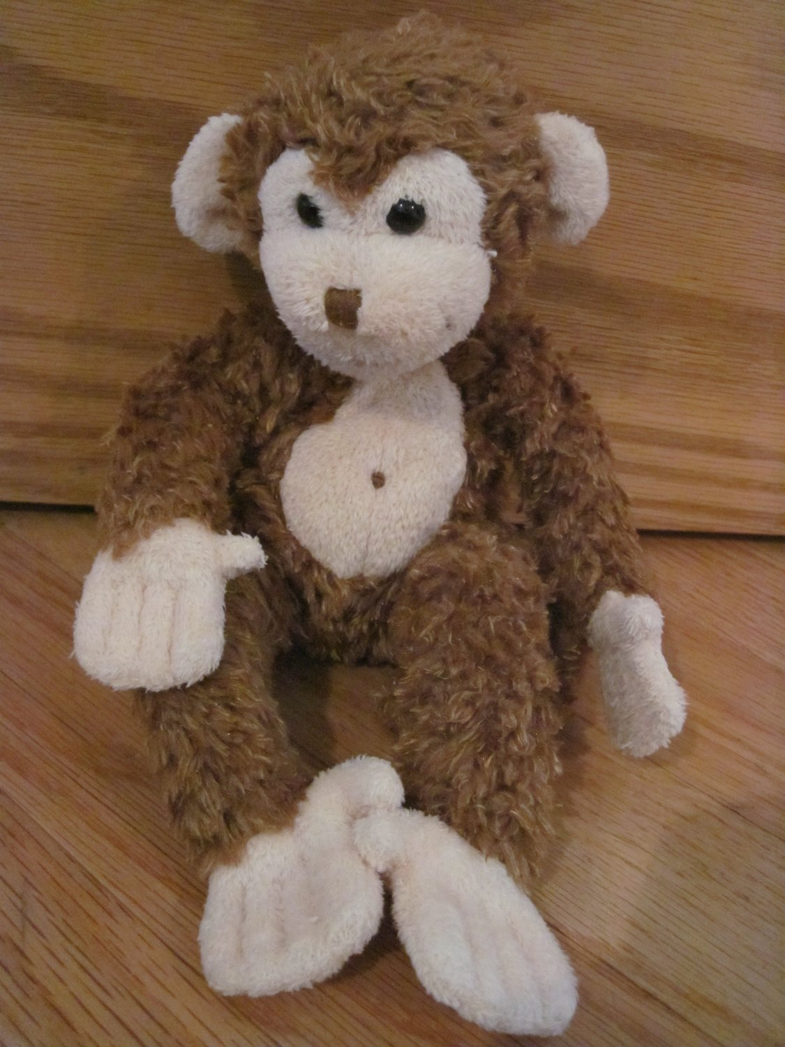 Douglas Toys Plush 9 Inch Brown Monkey Cream Face Belly Button Mo Bongo