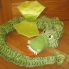 Ikea Sweden Minnen Drake Dragon Serpent Jumbo 75 inches Green Plush Pillow Toy 16631