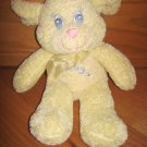 Royal Plush Cream Yellow Lamb Sheep Baby Toy Blue Eyes Pink Mouth