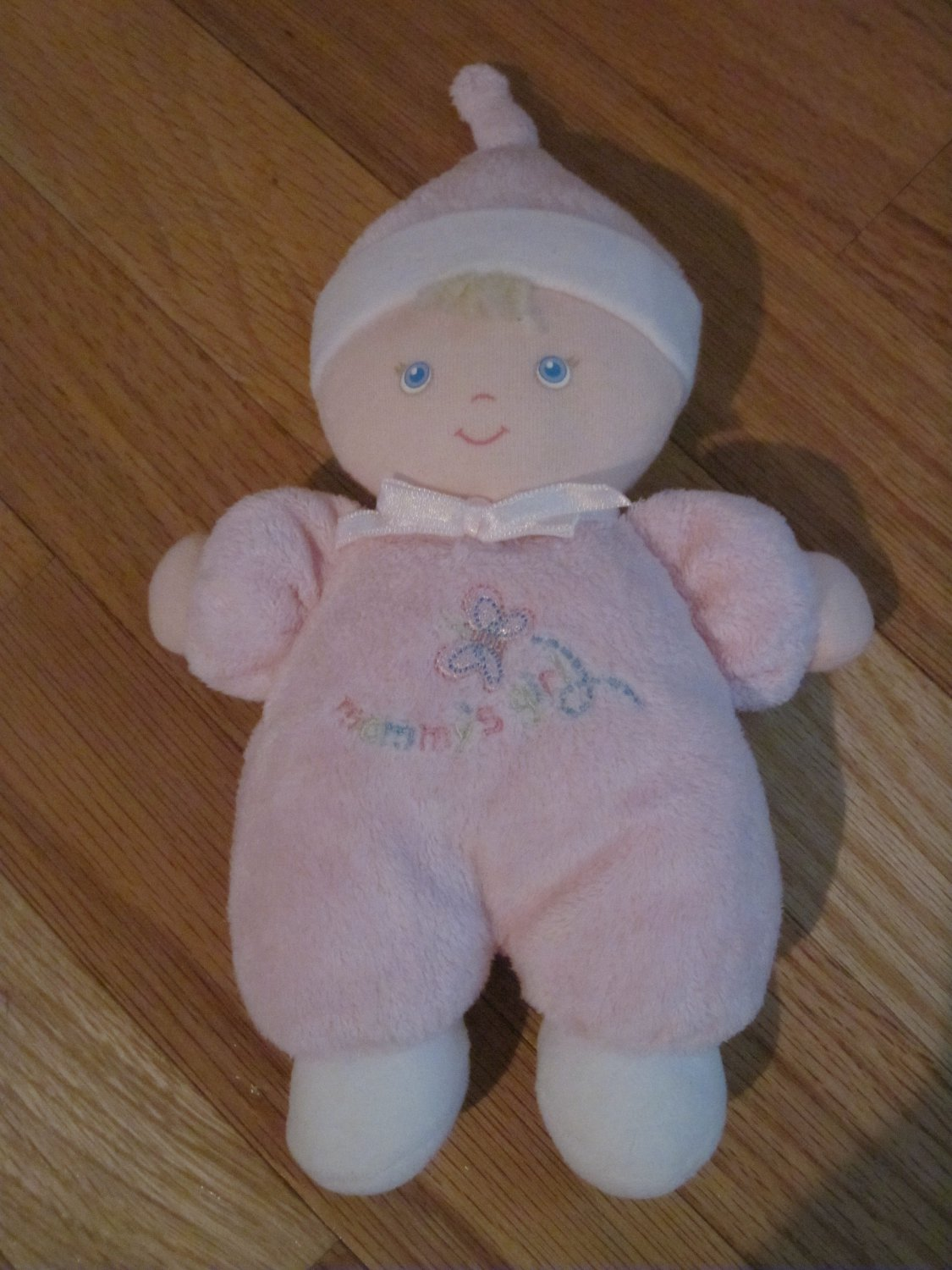 Carters Baby Mommy's Girl Butterfly Plush Rattle Doll Pink Pajamas Blond Hair 96160
