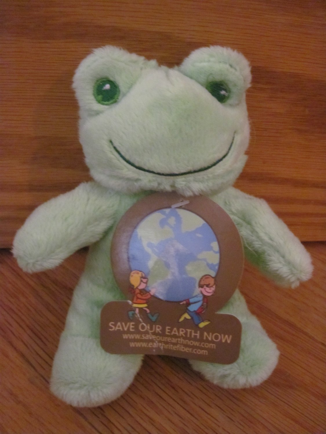 DanDee Plush Green Frog Bell Rattle Toy Green Eyes Mouth