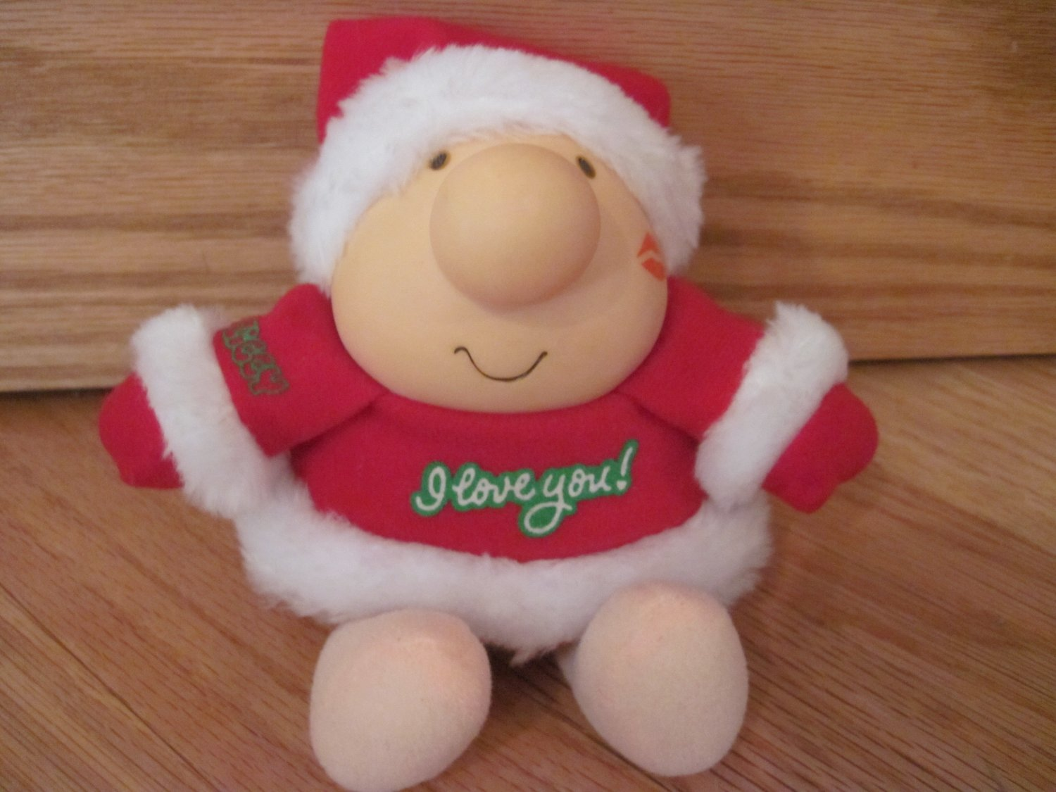 Vintage 1987 American Greetings Ziggy I Love You Santa Christmas Plush