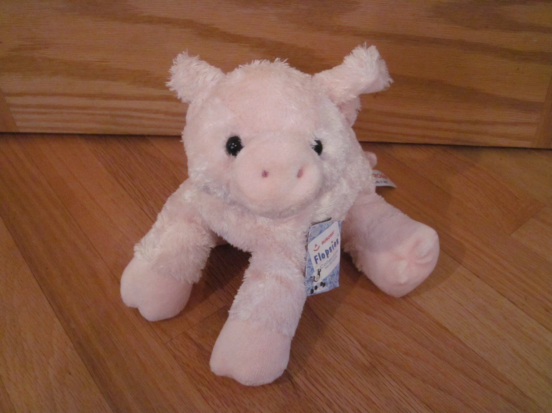 Aurora Flopsies Pink Plush 12 Inch Pig Toy Piggolo Item #06648