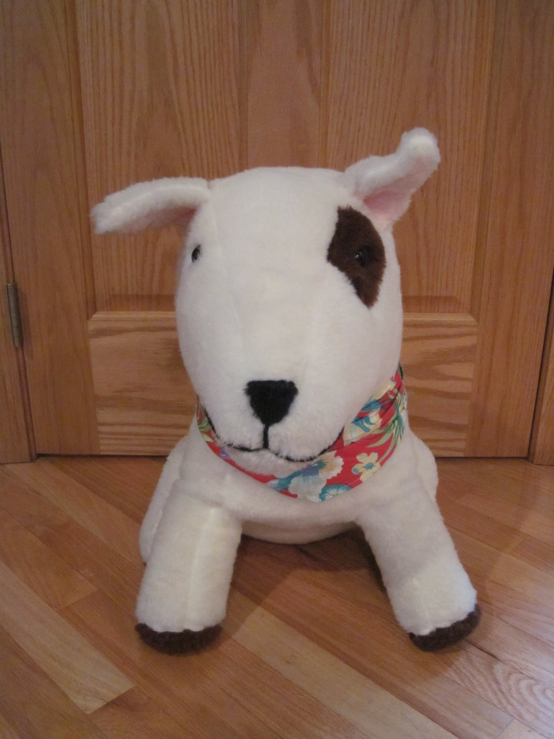 Vintage 80s Bud Light Spuds Mackenzie 23 Inch Stuffed Bull Terrier Puppy Dog Beer Mascot