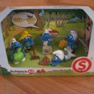 Schleich Smurf 5 Piece Figure Set 1980-1989 Edition Fall Harvest 41257