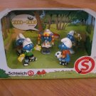 Schleich Smurf 5 Piece Figure Set 2000-2009 Edition Sports Soccer 41259
