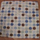 Carters Cream Blue Brown Green Polka Dots Spots Plush Baby Security Blanket Lovey