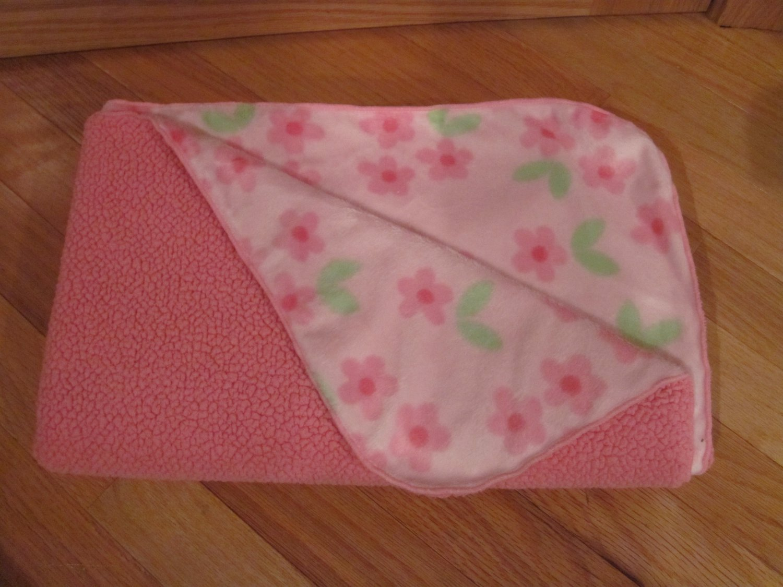 Carters Child Of Mine Pink Flower Minky Sherpa Baby