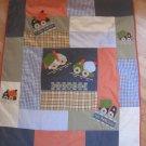 Baby OshKosh Under Construction Zone Truck Crib Toddler Quilt Blanket Comforter Tow Away