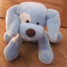 Baby Gund Plush Blue & White Puppy Dog Named Spunky 58376 Brown Nose Eye Spot