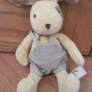 My Natural 2008 Plush Yellow Puppy Dog Toy Tan Bib Shorts