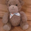 Prestige Toy Corp Brown Teddy Bear Animal Print Ribbon Bow Plush Bell Rattle Style 93986