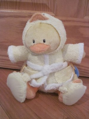 Baby Gund Little Quack-ups Yellow Duck in Bathrobe &amp; Slippers 58184