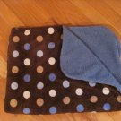Target Circo Blue Brown Tan Polka Dot Circle Baby Blanket Minky Sherpa