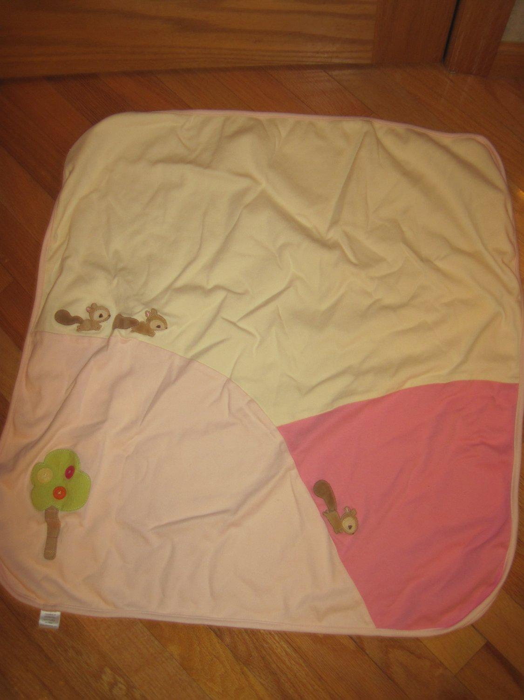 Gymboree 2005 Pink Cream Baby Girl Blanket Forest Friends