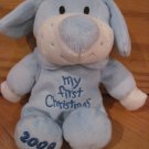 DanDee Collectors Choice Blue White My First Christmas 2009 Puppy Dog