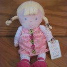 Carters Just One You Pink White Flower Floral Dot Doll Blond Braid Brown Ribbon Style 92247