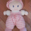 You & Me Pink Plush Heart Baby Doll Soft First Doll Hat Bow Toys R Us