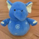 Koala Baby Blue & Green Swirl Plush Elephant Chime Ball Baby Toy
