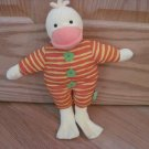 Rich Frog Orange Yellow Stripe Trudi the Duck Chicken Green Flowers Plush Toy