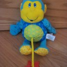 Lamaze Little Stars Blue Plush Monkey Activity Star Teether Sensory Toy FLAW