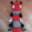 Kids II 1998 Red Black White Musical Caterpillar Ladybug Crib Pull Toy Rock A Bye Baby