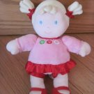 Carters Just One You Plush Baby Doll Blond Ponytails Pink Red Dress Circle Flowers 92489