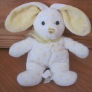 Walmart Plush My First Easter Bunny Rabbit White Yellow Polka Dots