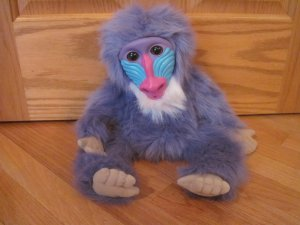 Kratts Creatures Zaboomafoo Talking Plush Purple Mandrill Monkey Baboon Orangutan