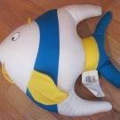 Atlas Textile Co Blue White Yellow Microbead Fish Pillow Toy Moshi Style