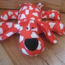 Novelty Inc. Happy Valentines Day Red Pink White Heart Plush Microbead Puppy Dog Pillow Toy