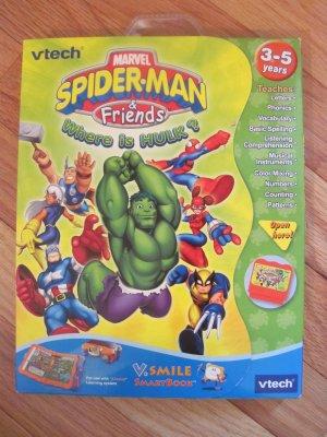 Vtech Vsmile Spiderman & Friends SmartBook  Smartridge V.Smile TV Learning Educational System Toy