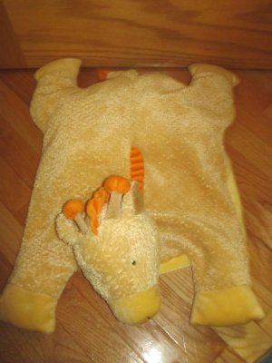 Russ Berrie Plush Yellow Giraffe Security Blanket Pillow Lovey Named Jeremy