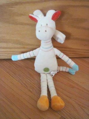 JellyCat JellyKitten Cream Yellow Plush Giraffe Baby Hanging Toy Stripe Legs Arms Neck