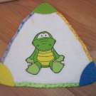 Kids II Dinosaur Teether Triangle Terry Cloth Security Blanket Lovey