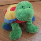 Baby Gund Plush Bright Primary Color Tutti Frutti Turtle Toy 58325