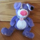 Nuby Luv N&#39; Care Plush Purple Puppy Dog Tickle Toes Laughs Green Collar Pink Tongue