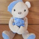 Carters Classics Plush Musical Wind Up Teddy Bear Toy Blue  Hat Baby Bear 35440