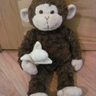 Gund Plush Brown Monkey with Banana Mambo 31040