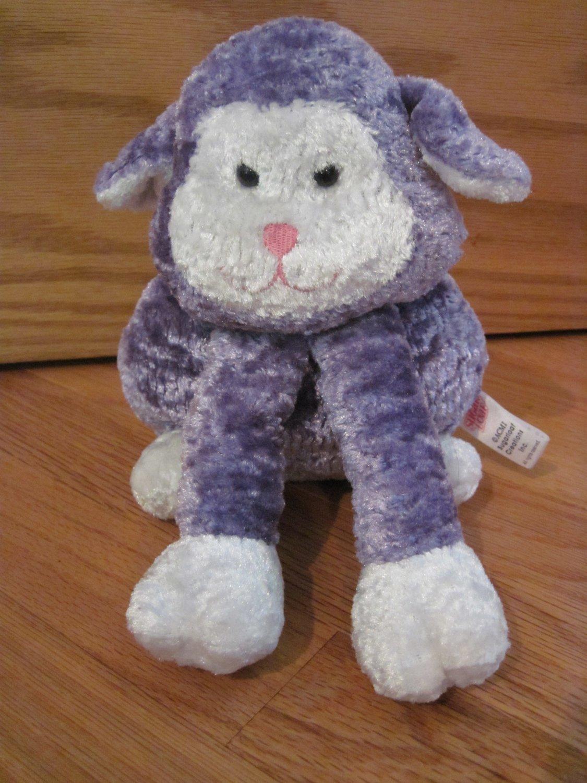 Sugar Loaf Purple Amp White Plush Bunny Rabbit Pink Nose