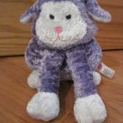 Sugar Loaf Purple & White Plush Bunny Rabbit Pink Nose Mouth Long Front Arms