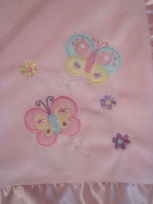 Target Circo Pink Velour Fleece Satin Butterfly Flower