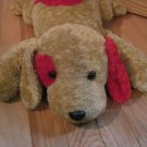 Target Corporation Beige Brown Tan & Red Plush Laying Puppy Dog 78775
