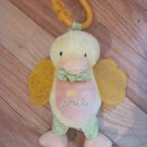 Carters Yellow Plush Duck Shaking Baby Teether & Lovey Smile Plush Toy 47572