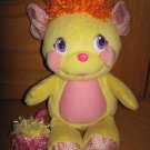 2007 Pop & Giggle Talking Laughing Yellow Plush Potato Chip Popple Toy