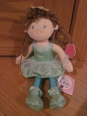 Russ Berrie Girl Powrr Astro Belles Plush Isabelle May Birthday Angel Fairy Doll 22835