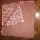 Pottery Barn Kids Pink Velour Satin Quilted Baby Blanket